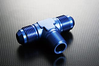 Aluminum Fitting Adapter AN10-10AN AN-10 to 1/2 NPT Male Flare to NPT Male Thread Tee Union