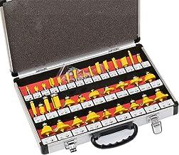 "35pcs/set 6.35mm/ 1/4"" Shank Professional DIY Milling Cutter Router Bit Set Tungsten Carbide Milling Cutter Tools Router Bit Set"