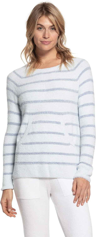 Barefoot Dreams CozyChic Lite Striped Raglan Pullover, Scooped Neckline