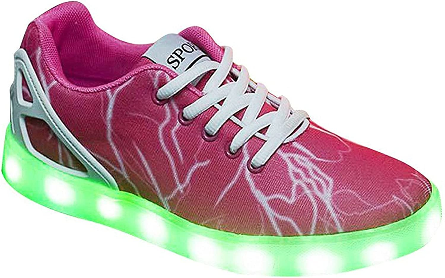 Sexphd Unisex USB Charging Light Up LED shoes Flashing Sneakers