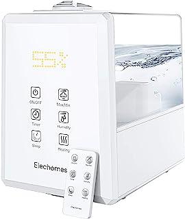Elechomes Ultraschall Luftbefeuchter 6L, Warmer und Kühler Nebel mit Fernbedienung, Angepasste Luftfeuchtigkeit, Dual 360°...