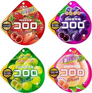 UHA味覚糖 コロロ アソート 4種4個セット(ストロベリー×1・グレープ×1・マスカット×1・白桃×1)