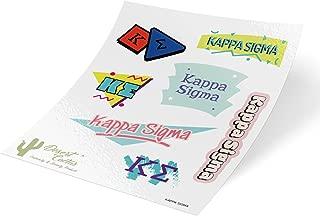 Kappa Sigma 90's Themed Sticker Sheet Decal Laptop Water Bottle Car Kappa Sig (Full Sheet - 90's)
