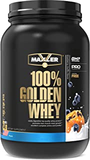 Maxler 100% Golden Whey Protein - 24g of Premium Whey Protein Powder per Serving - Pre, Post & Intra Workout - Fast-Absorb...