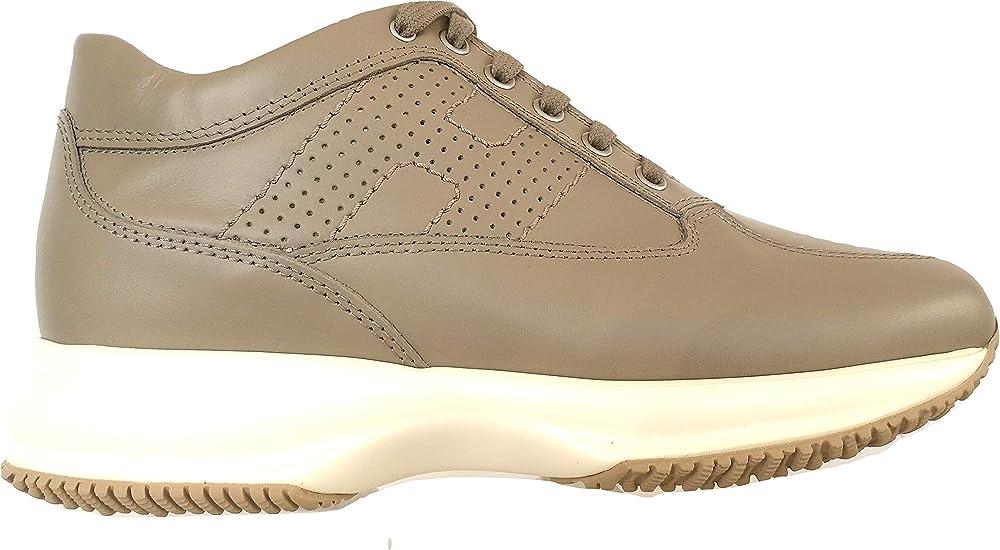 Hogan scarpe interactive donna sneekers in pelle HXW00N00E30D0WC803