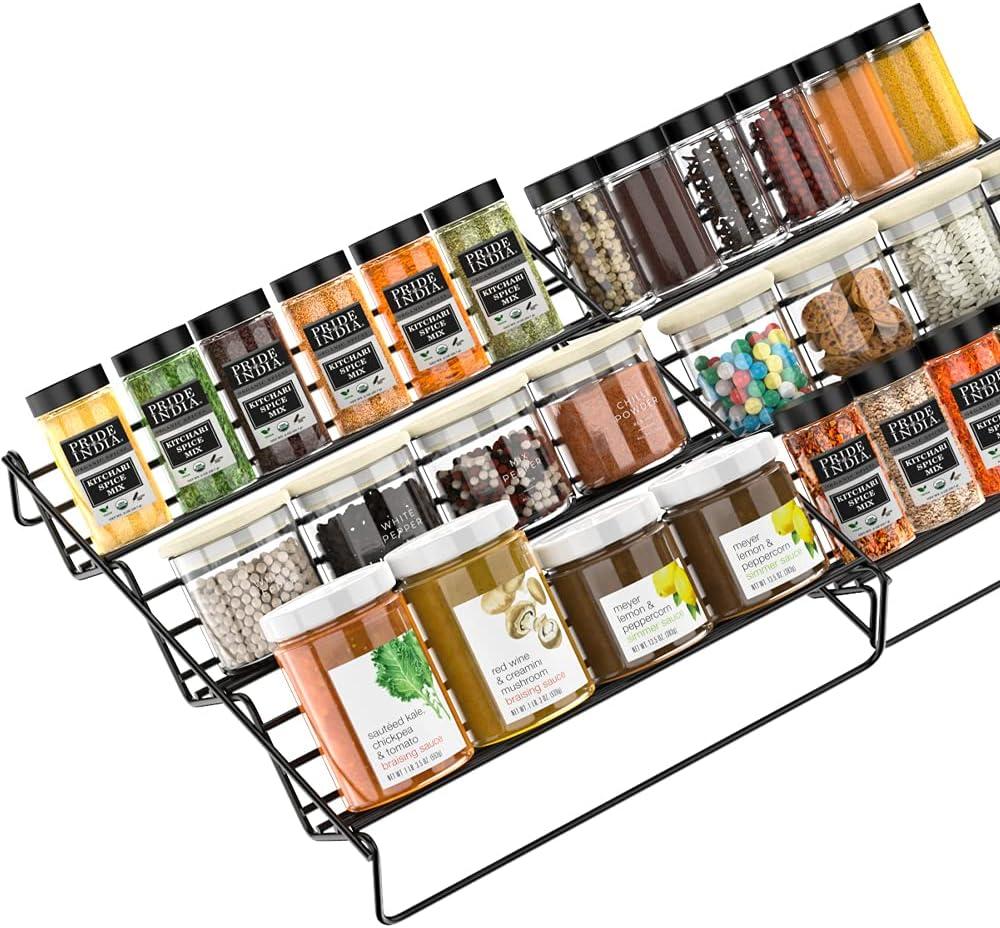 Expandable Genuine Spice Rack Organizer Cabinet Popular for Seasoni WEKSI