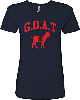 Patriots Greatest of All Time #12 Womens Fit T-Shirt