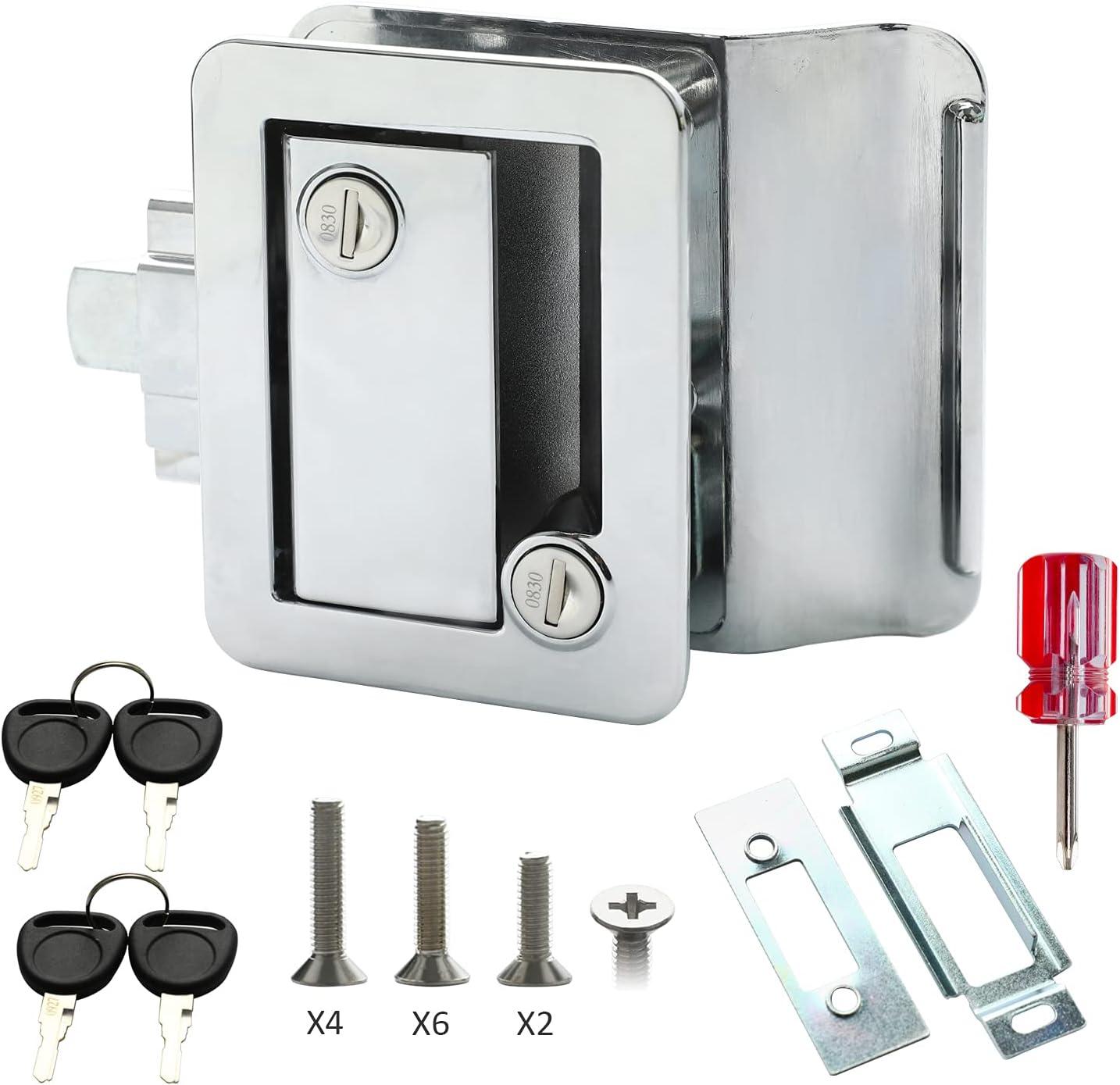 Rv Trailer Camper Entry Door Handle Latch Rep Lock Regular New arrival dealer