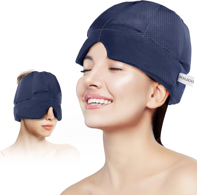 Headache Columbus Mall Migraine Cheap bargain Relief Hat - Headband Ice Flexible Wearable