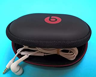 in-Ear Earphone Carrying Case for Monster Beats : BeatsX, iBeats,Tour, Heart Beats by Lady Gaga, Diddy Beats, Gratitude, DNA, Diesel VEKTR, iSport Victory, iSport Immersion. with Free 4 eargels.
