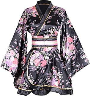 Kimono traje de baño japonés tradicional Yukata cosplay mujer sexy patrón Sakura