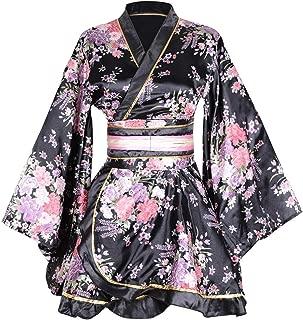 Kimono Bathrobe Costume Japanese Traditional Yukata Cosplay Women's Sexy Sakura Pattern