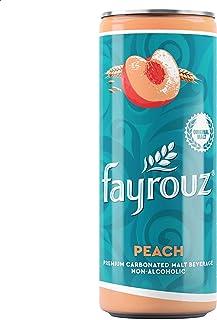 Fayrouz Non-Alcoholic Malt Beverage with Peach Flavor - 250 ml