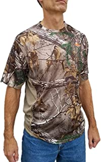 Realtree Mens Carbon Hunt T-Shirt Small Carbon Heather Blue
