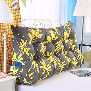 YUMUO Oreillers Triangulaires en Coton,oreillers Arrière Cuscino Indietro Lit Coussins Décoration à La Maison Doux pour La...