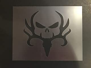 Custom Stencil Deer and Skull 7mm Thick, Skulls, Hunting, Big Buck 7 x 9 inches Sheet Airbrushing Supplies