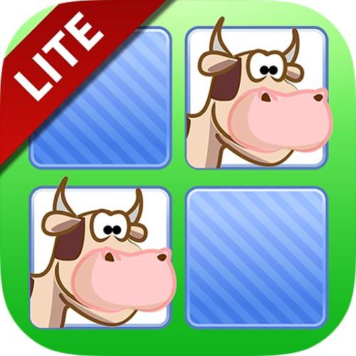 Free Memo Game Farm Animals Cartoon