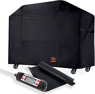 Yukon Glory 7553 Premium Cover for Weber Genesis E and S Series Gas Grills, for 2007-2014 Models - Equivalent to Weber 7553 Grill Cover Free Bonus Meat & Poultry Thermometer + BBQ Grilling MATT