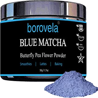 Blue Matcha Butterfly Pea Flower Powder - Natural Superfood - Antioxidants - Mix with Beverages, Smoothies and Baking 1.7oz tin
