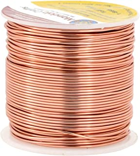 Mandala Crafts 12 14 16 18 20 22 Gauge Anodized Jewelry Making Beading Floral Colored Aluminum Craft Wire (18 Gauge, Copper)