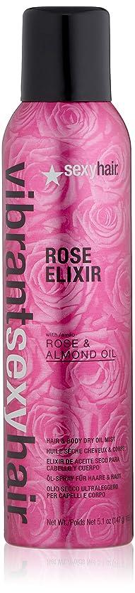 抑制するコーンロケーションSEXY HAIR VIBRANT ROSE ELIXIR HAIR & BODY DRY OIL MIST - 150ml by Sexy Hair Concepts