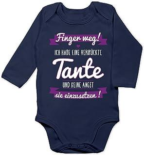 Shirtracer Sprüche Baby - Ich Habe eine verrückte Tante Lila - Baby Body Langarm