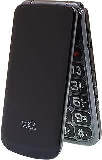 VOCA V330 3G Big Button Simple Easy to UseClamshell Unlocked SIM-Free Senior Flip Mobile Phone, Black