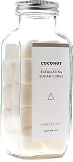 Harper + Ari Sugar Scrub Cubes, Exfoliating Body Scrub in Single Use Size, Soften and Smooth Skin with Shea Butter and Aloe Vera (Coconut)