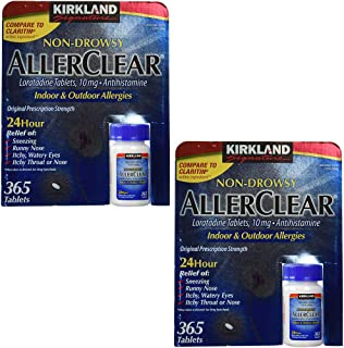 Non Drowsy Allerclear Loratadine Tablets, Antihistamine, 10mg, 365-Count Personal Healthcare/Health Care (2 Pack)