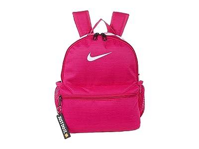 Nike Kids Brasilia JDI Mini Backpack (Little Kids/Big Kids) (Fireberry/Fireberry/White) Backpack Bags