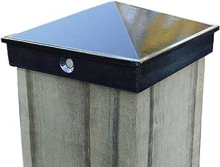 "Best 4x4 Fence Post Cap (3 1/2"") 4 Pack Black Powder Coated Aluminum - Mailbox, Lamp Post, Deck, Dock, Piling Caps Review"