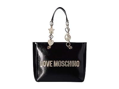 LOVE Moschino Logo Tote Bag (Nero) Handbags