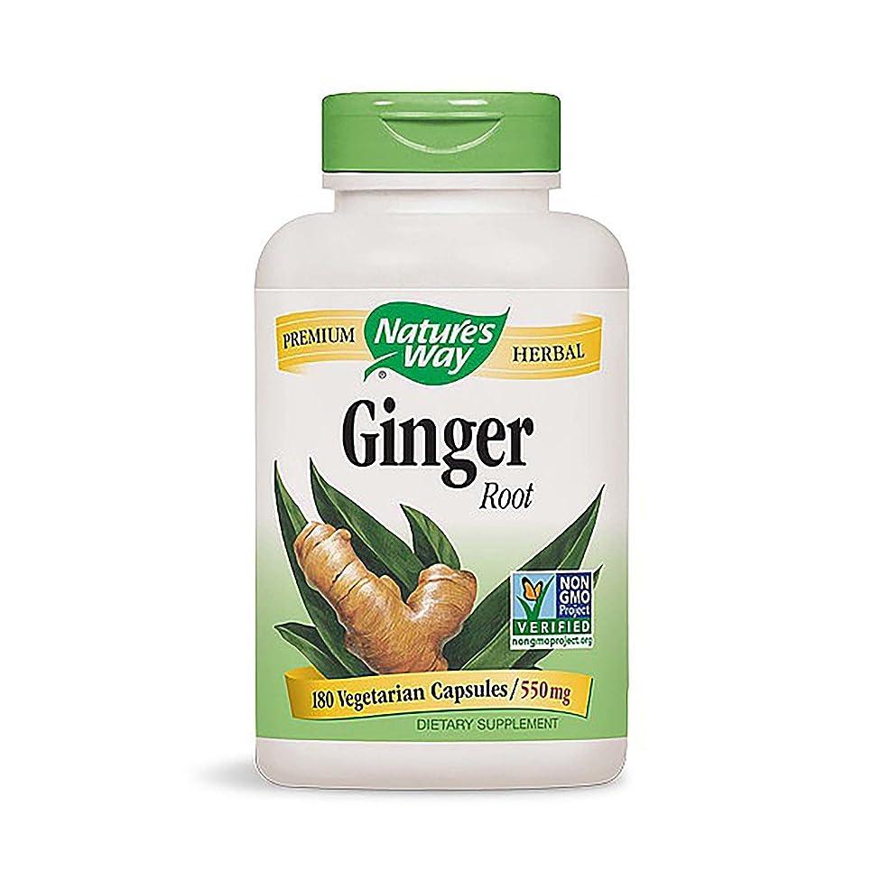 Nature's Way Ginger Root, 550 Milligrams, 180 Capsules