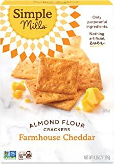 Simple Mills - Naturally Gluten-Free Almond Flour Crackers Farmhouse Cheddar