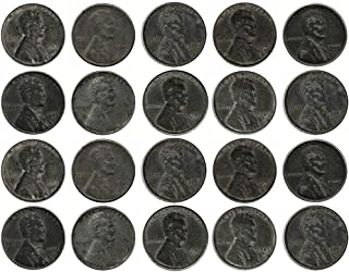 Rare WWII World War Steel Penny Old Coin Collection (20-Coin Lot) Collectible Condition Good