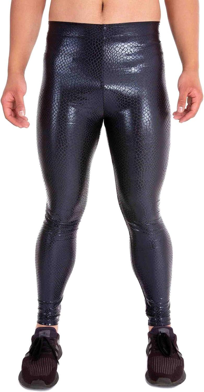 Kapow Meggings Metallic Velvet SEAL limited product Max 61% OFF Material Men's Legging Special