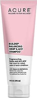 ACURE Buildup Balancing Hemp & Apple Cider Vinegar Shampoo   100% Vegan   Resets & Balances Hair for Styled, Swim & Harsh Conditions   Fragrance Free Formula   8 Fl Oz