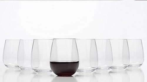 popular Stemless Wine Glasses - Unbreakable Shatterproof BPA Free Plastic Tritan (Set new arrival new arrival of 8) 16oz - Dishwasher Safe online sale