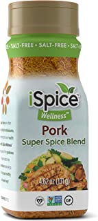 iSpice - Salt-Free | Sugar free | 100% Pure Wellness Pork Seasoning Super Spice Blend | All Natural | Ready to use as is |...