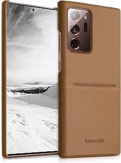 kwmobile Back cover compatibel met Samsung Galaxy Note 20 Ultra - Telefoonhoesje in lichtbruin - Hoesje met pasjeshouder -...