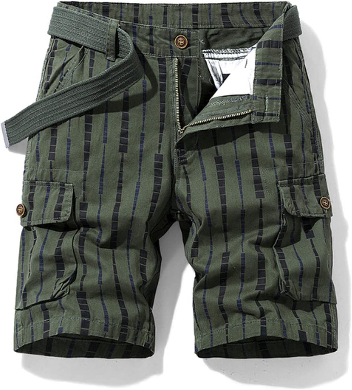 WoJogom 2021 Spring Men Cotton Print Men's Shorts Clothing Summer Casual Breeches Bermuda Fashion Jeans for Beach Pants Men Short
