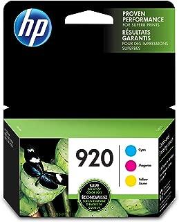 HP 920 | 3 Ink Cartridges | Cyan, Magenta, Yellow | CH634AN, CH635AN, CH636AN