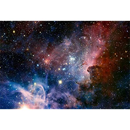 Outer Space 8x10 FT Photo Backdrops,Spaceman in The Galaxy in Front of Nebula Gas Cloud Interstellar Art Print Background for Baby Shower Bridal Wedding Studio Photography Pictures Blue Yellow