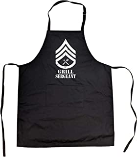Grill Sergeant Cookout Apron Funny Backyard BBQ Smock