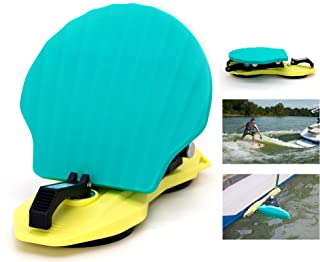 """GanFindX WakeSurf Shaper Foldable Wave Creator - Wake Surfing Wave Maker Portable Boat Gear with 5"""" Strong Rubber Suction Cup"""