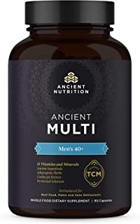 Ancient Nutrition, Ancient Multi Men's 40+ - 21 Vitamins & Minerals, Adaptogenic Herbs, Fermented Selenium, Paleo & Keto F...