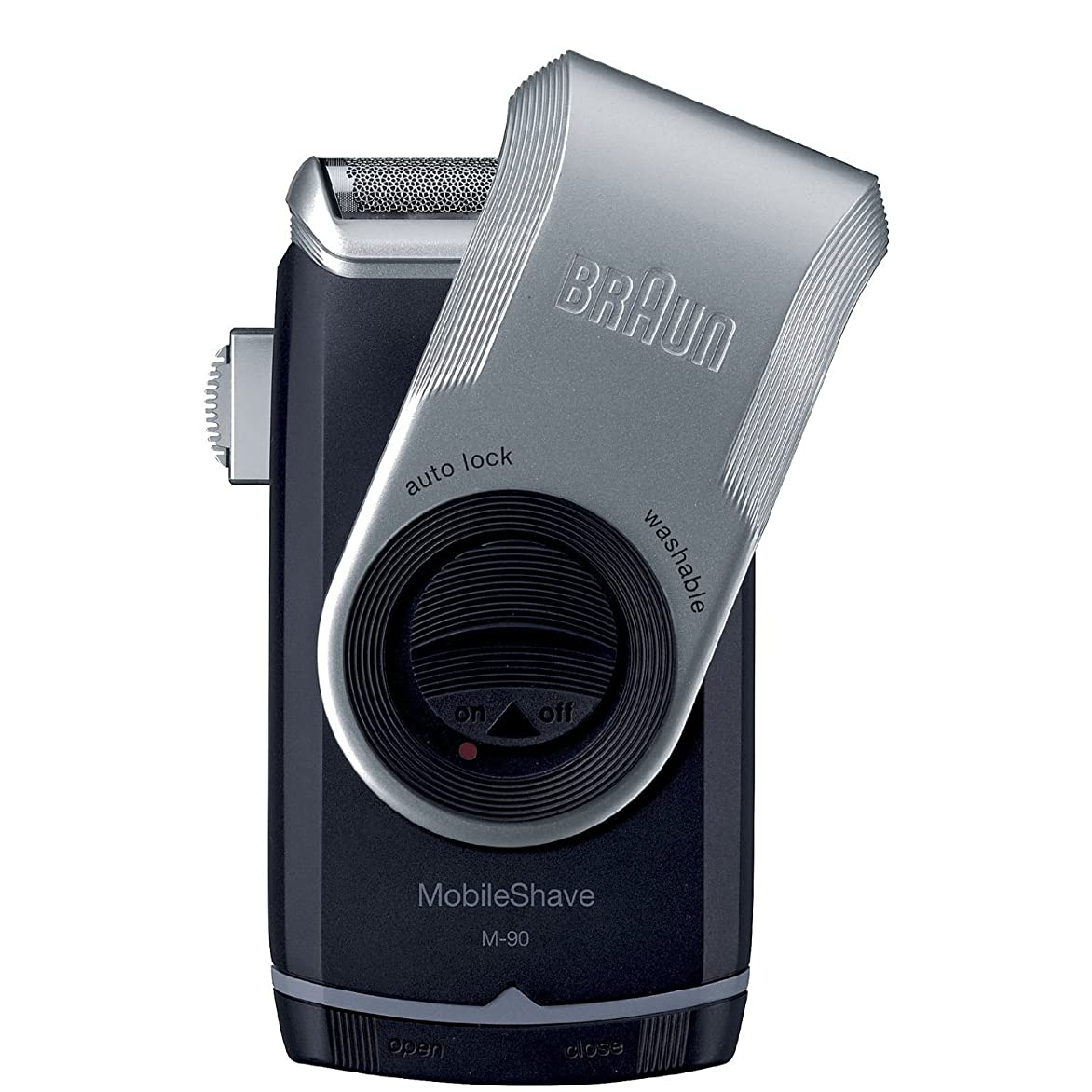 防腐剤租界計算するBraun Mobile Shave Silver M90 Shaver