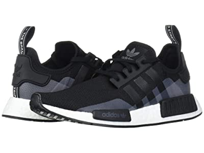 adidas Originals Kids NMD_R1 J (Big Kid) (Black/Vapour White) Kids Shoes