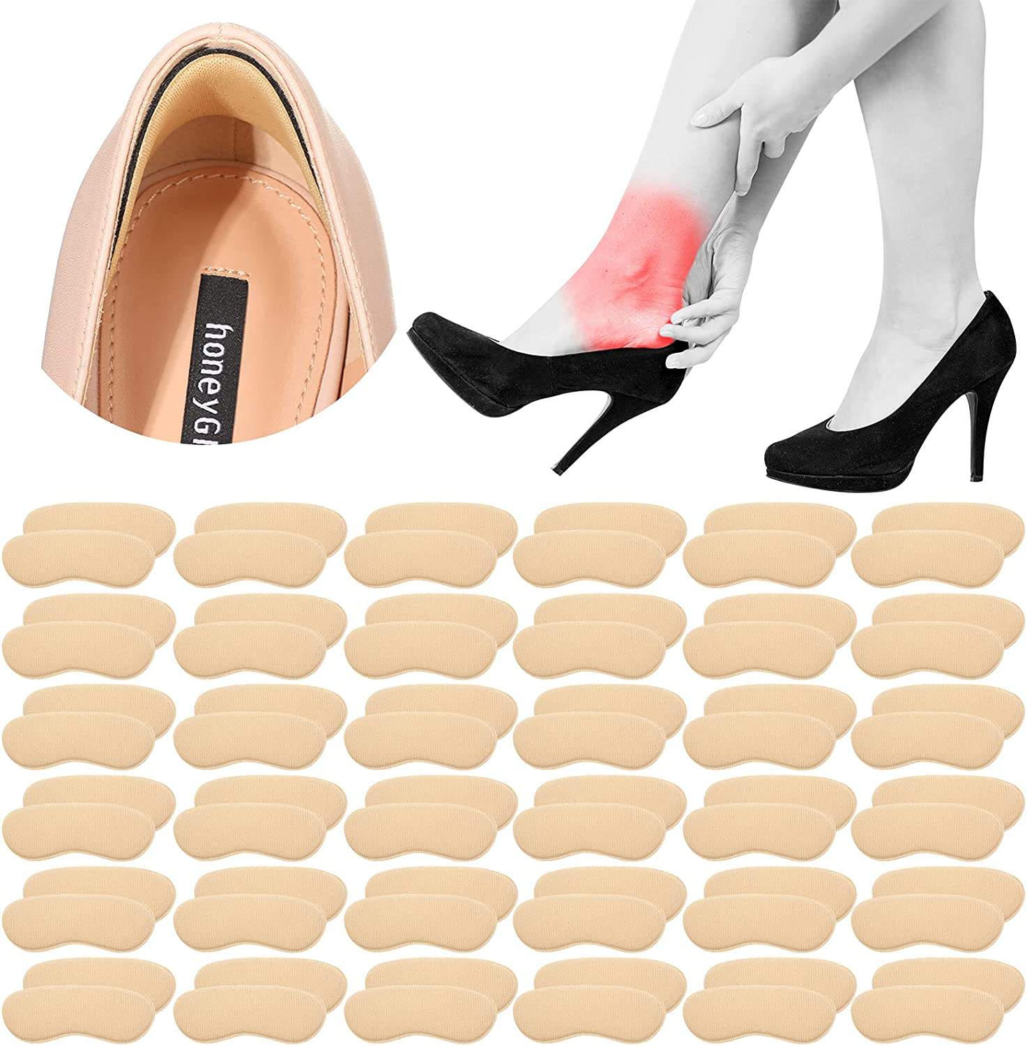 36 Pairs Heel NEW before selling ☆ Grips Liner Cushions Self-Adhesive Ranking TOP15 Non-Slip F