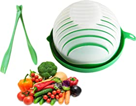 5 in 1 Salad Cutter Bowl | 60 Second Salad | Easy Slicer Chopper Strainer Cutting Board All in One | Strong and Durable| Fruit and Vegetable Cutter | Safe and Non-Toxic Food Grade BPA Free Material